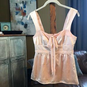 Nanette Lepore Blush Pink Cami-Style Silk Top sz 0